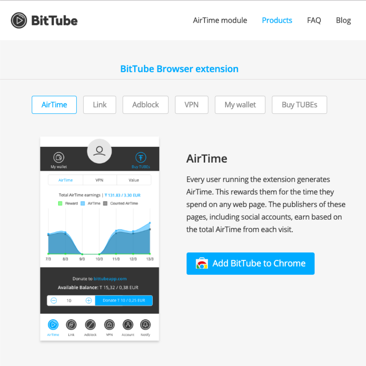 BitTube - The browser that respects your time and rewards your